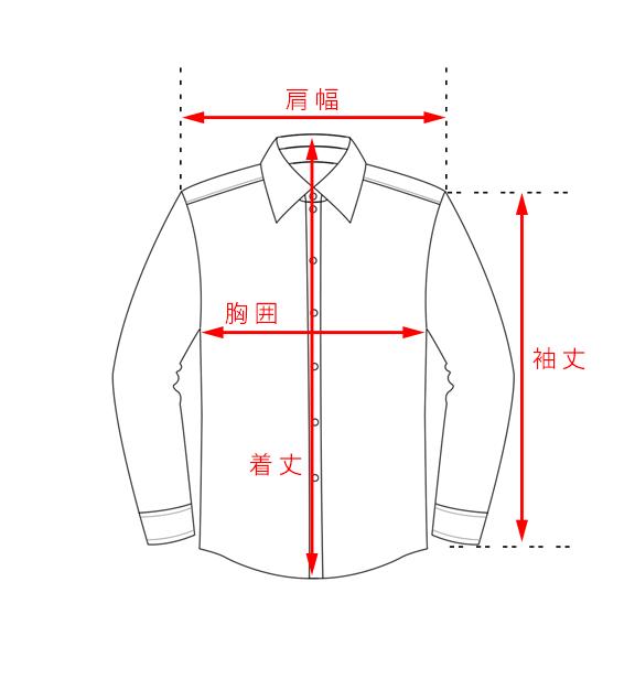 ワイシャツのサイズガイド