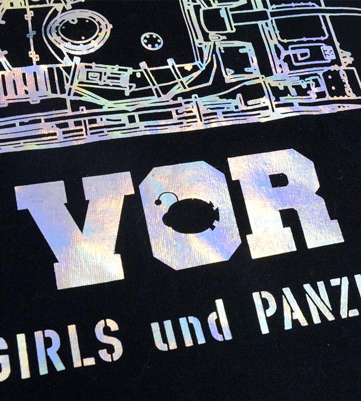 IV号戦車ホログラムプリント Tシャツ
