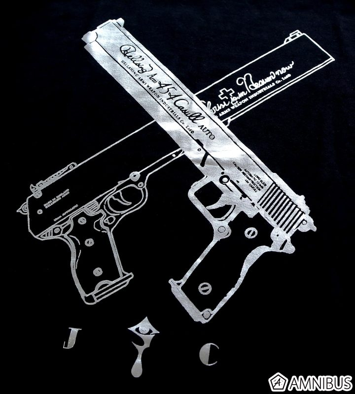 箔プリントTシャツ(454カスール&ジャッカル)