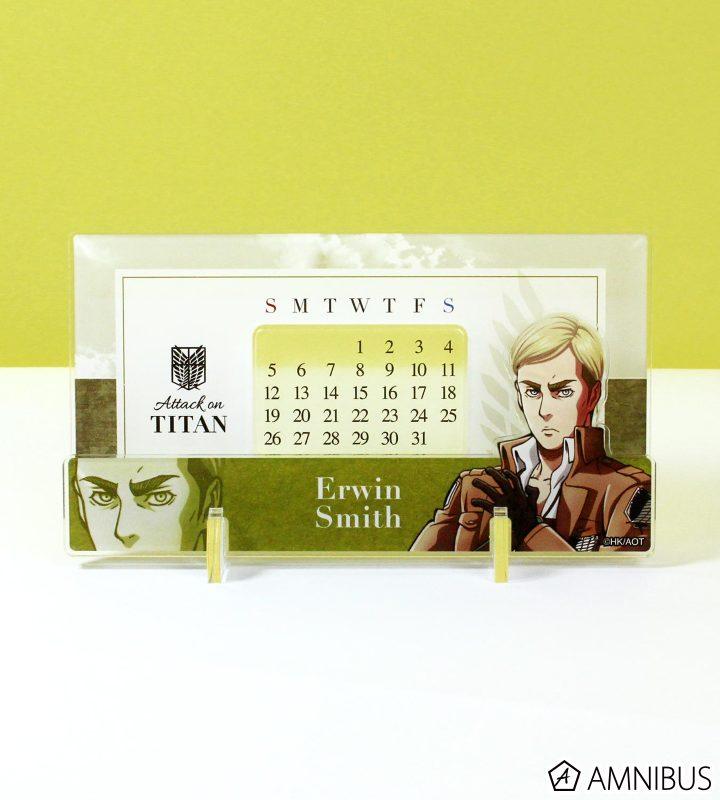 アクリル万年カレンダー 着せ替えパーツ(ジャン・リヴァイ・エルヴィン)