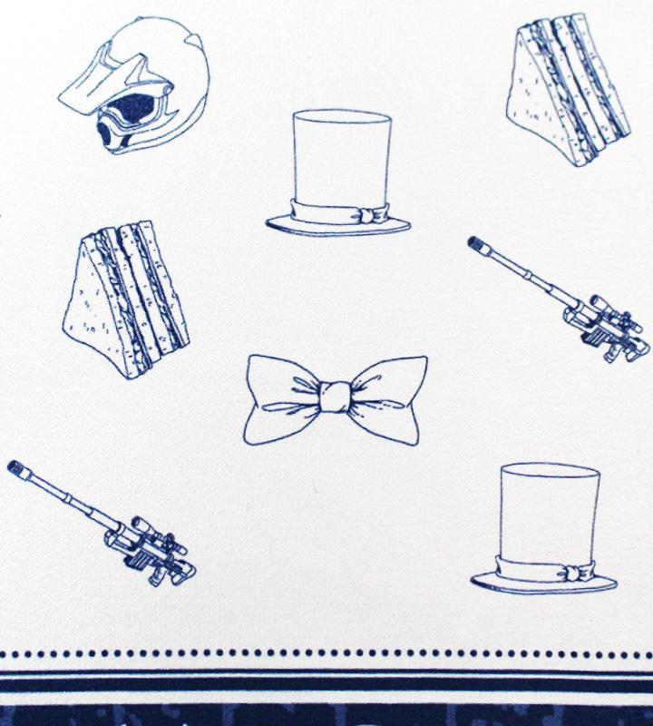 キャラクターモチーフデザインスカーフ