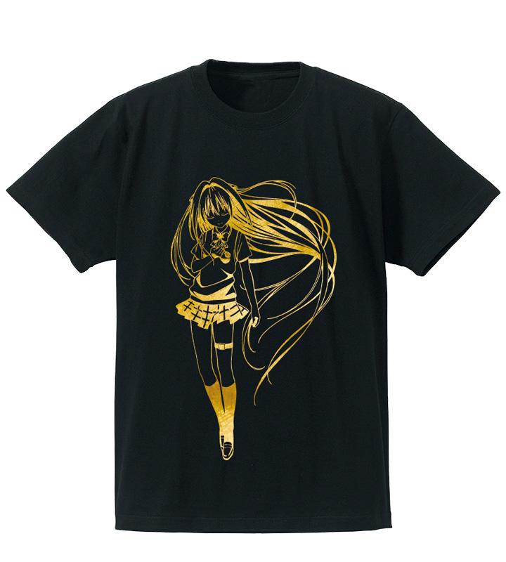 箔プリントTシャツ(金色の闇)