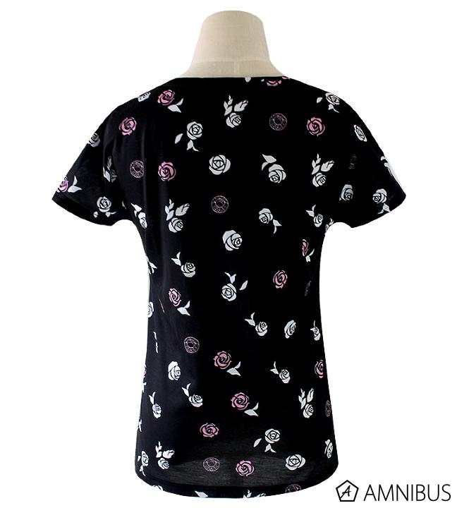 薔薇の総柄Tシャツ