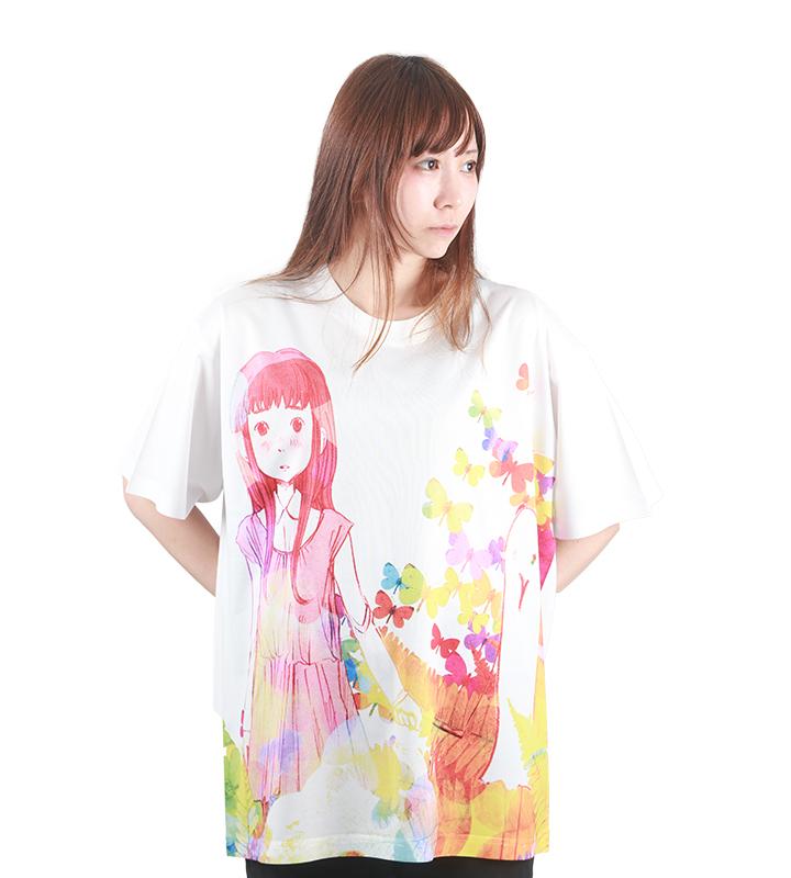 フルグラフィックビッグシルエットTシャツ【おやすみプンプン】