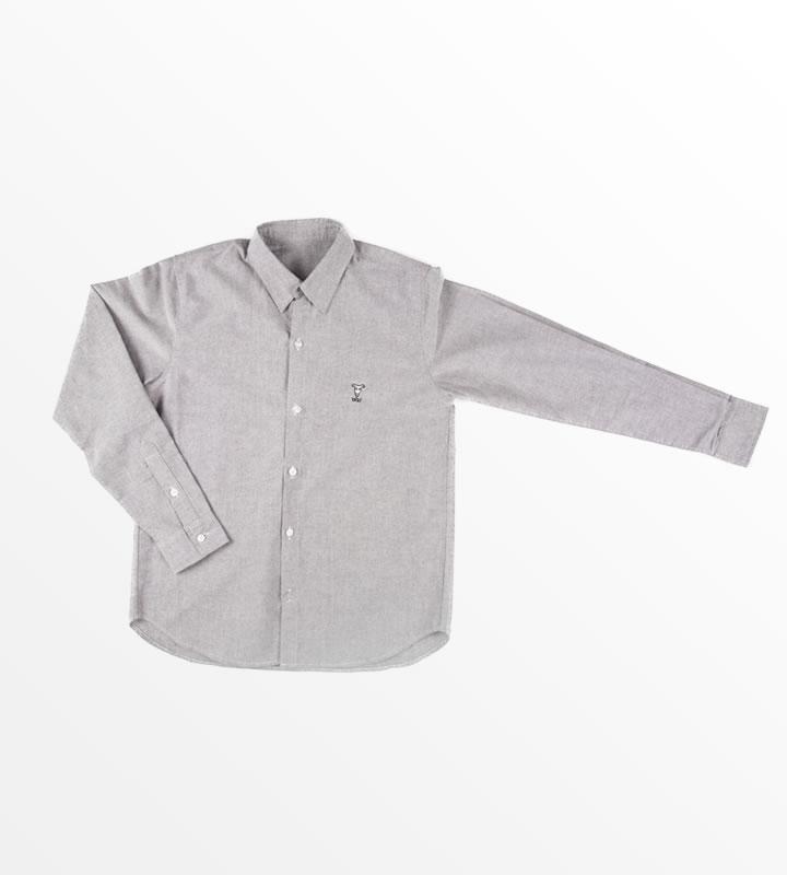 YAGIオックスフォードシャツ(グレー)