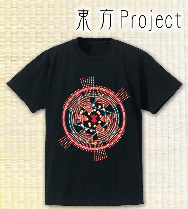 Spell Card Tシャツ 〜レミリア・スカーレット〜(ブラック)