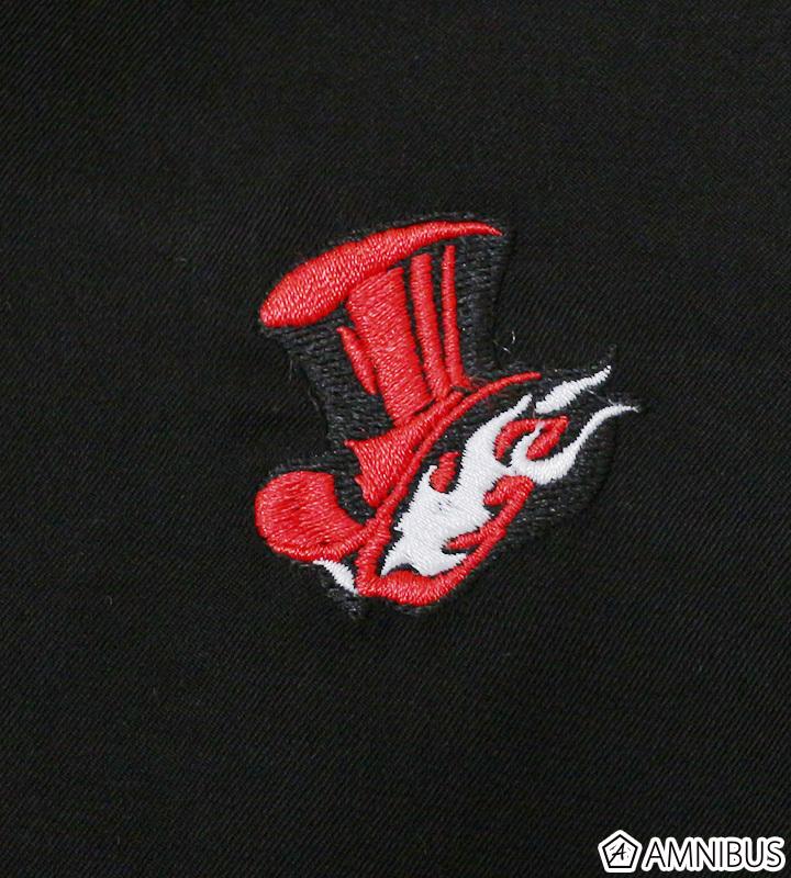 ワンポイント刺繍シャツ(怪盗団)