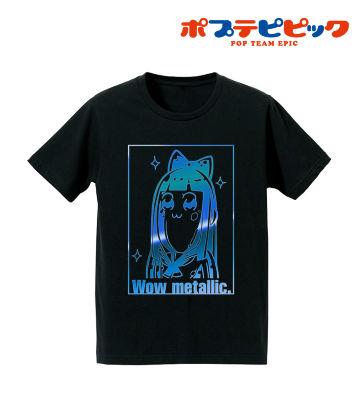 箔プリントTシャツ(ワーオ メタリック)