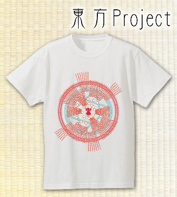Spell Card Tシャツ 〜レミリア・スカーレット〜(ホワイト)