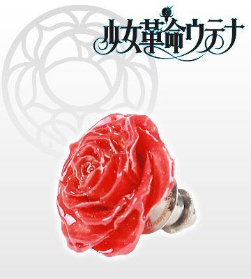 薔薇のブローチ・アンシー(赤)